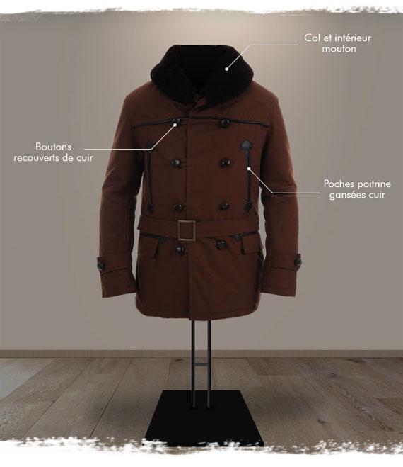 Veste Canadienne pour homme | Canadienne en cuir, toile et