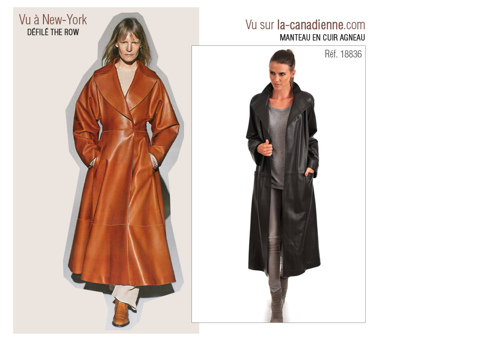 Manteau cuir Femme